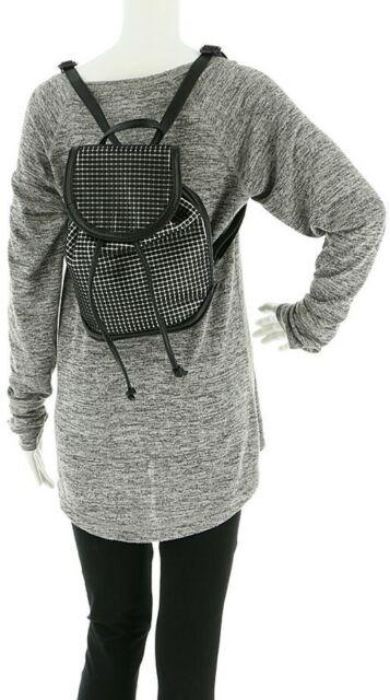 Steve Madden 💋 Black White BOUNCE NWT $98 Small Backpack Hand-Bag SC