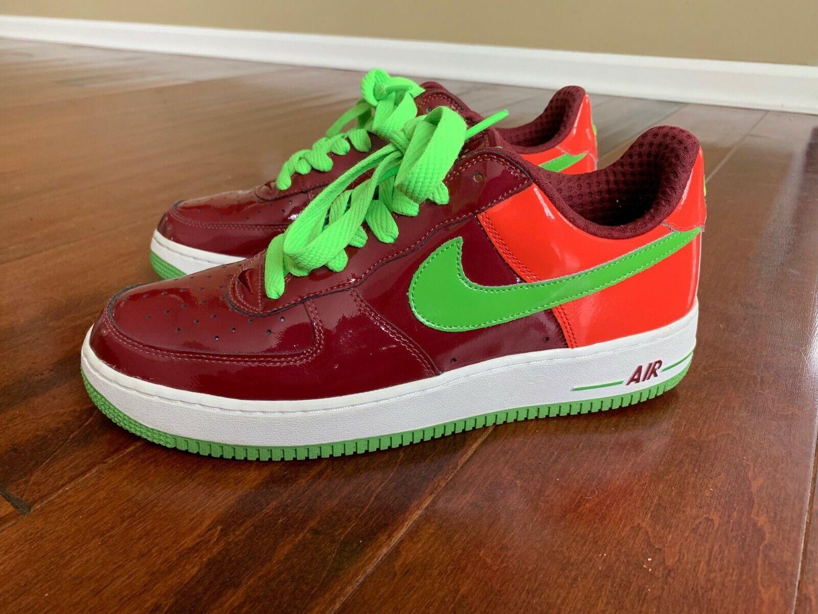 Nike Air Force 1 Low Premium Kiwi Watermelon Size 10