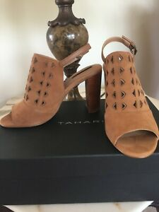 Womens Back marvel Sling Teen Ta Sandal 7m Brown Nwb Tahari Open Camel Suede 6xqfqH