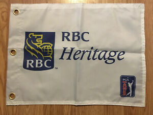 RBC-Heritage-Screen-Printed-Pin-Flag-PGA-Tour-Souvenir-Flag-Tiger-Woods