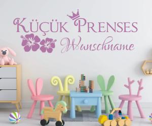 KP147-Wandtattoo-Kuecuek-Prenses-Name-Wunschname-Wunschtext-Prinzessin-Tuerkisch