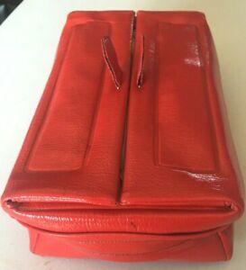 VTG-St-Thomas-Flip-Top-Men-Red-Travel-Shaving-Bag-Hinged-Toiletry-Dopp-Kit-Case