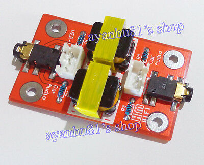 Audio Noise Filter Ground Loop Isolator Coupling Circuit Car PC AUX interference