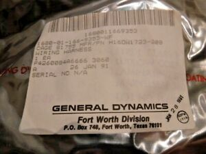 Details about General Dynamics / Lockheed Martin Wire Harness H16DW1723-200 on