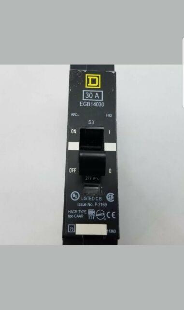 2 New Schneider Square D 20 Amp 277V 1 Pole Bolt On EGB14020 Circuit Breaker