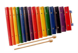 NEW-Wooden-2-Octave-Xylophone-kids-real-percussion-instrument