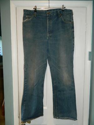 Vintage Bootcut 1970s Cowboy Cut Lee Jeans Denim Con Cuciture Limone 37x33-mostra Il Titolo Originale Buon Sapore