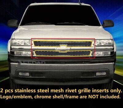 fits 99 02 chevy silverado 00 06 suburban tahoe black mesh rivet grille grill ebay fits 99 02 chevy silverado 00 06 suburban tahoe black mesh rivet grille grill ebay