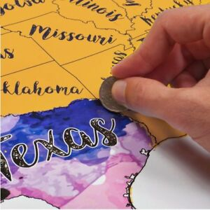 Scratch Off USA Map Travel Watercolor by McScout Maps   Mark Your ...