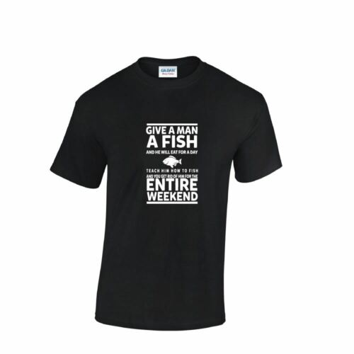 Give A Man A Fish Top Birthday Gift Mens Ladies Funny Inspired T Shirt Present