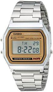 Casio-Men-039-s-Silver-Casual-Classic-Digital-Bracelet-Watch-A158WEA-9CF