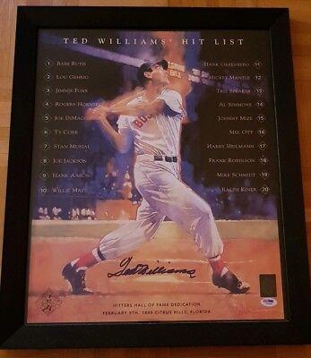 Sport UnermüDlich Baseball Hit List Ted Williams Signed Red Sox Yankees Autogramm Unterschrift Mlb