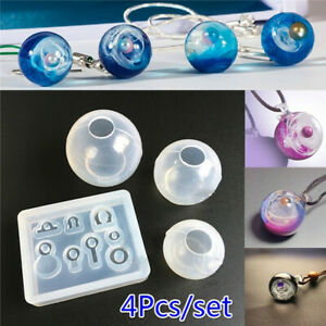 Details about Transparent Ball Pendant Resin Mold Set Silicone Epoxy Mold  DIY Jewelry Making