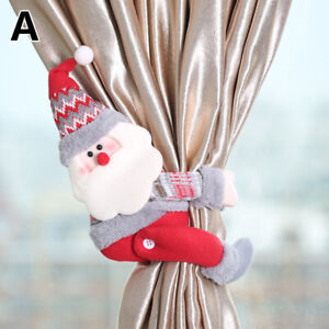 Details about  /Christmas Xmas Decor Holdback Santa Buckle Holder Tieback Snowman Curtain
