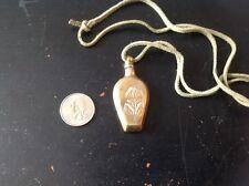 Vintage Brass Perfume Holder pendant
