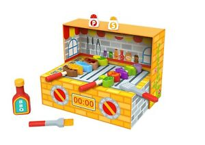 Bbq Box Wooden Cooking Toy Playset