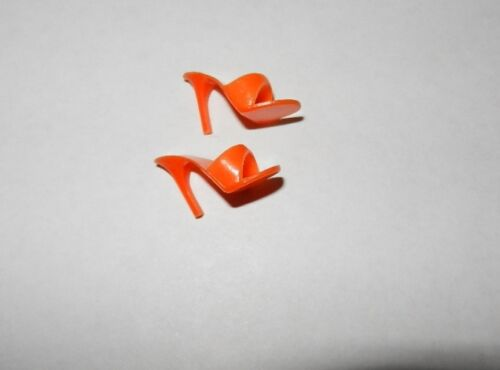 1960'S ORIGINAL ORANGE OPEN TOE SHOES MULES PUMPS JAPAN