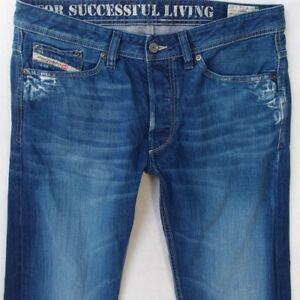 80d4d1e0 Mens Diesel VIKER 008MZ Straight Regular Fit Blue Jeans W32 L34 | eBay