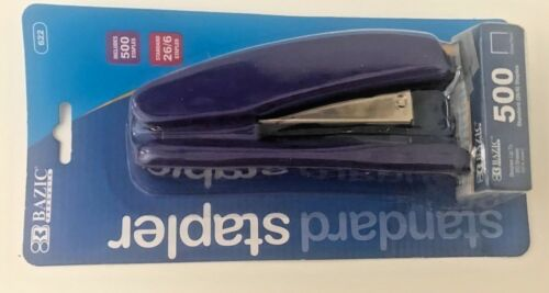 Stapler-500 Staples Included-Pink//Purple//Orange Color BAZIC Standard 26//6