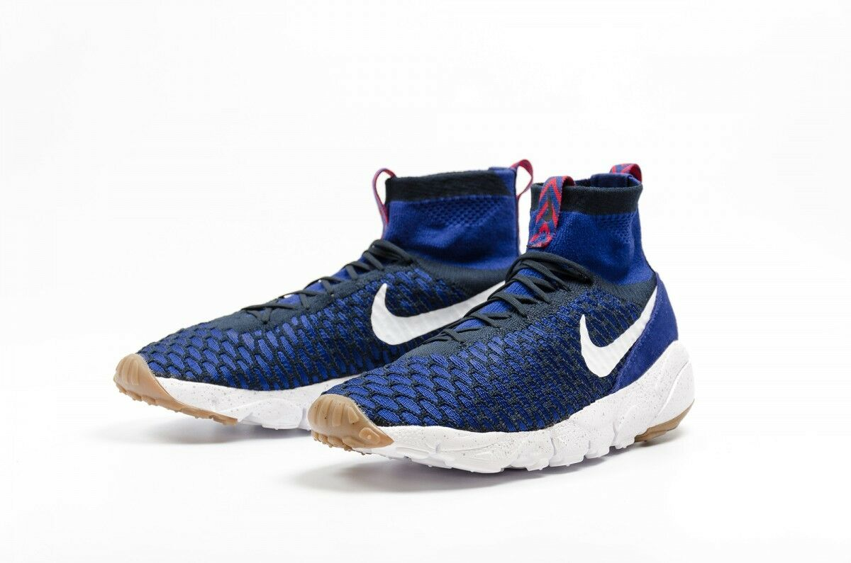 NEW Nike Air Footscape Magista Flyknit Blue White Men's Shoes 816560 400 SZ 11.5
