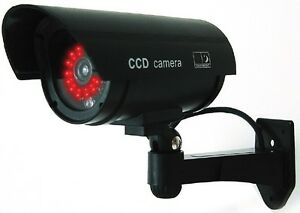 Black-Dummy-Fake-Security-Camera-Cameras-30-Illuminating-LEDs