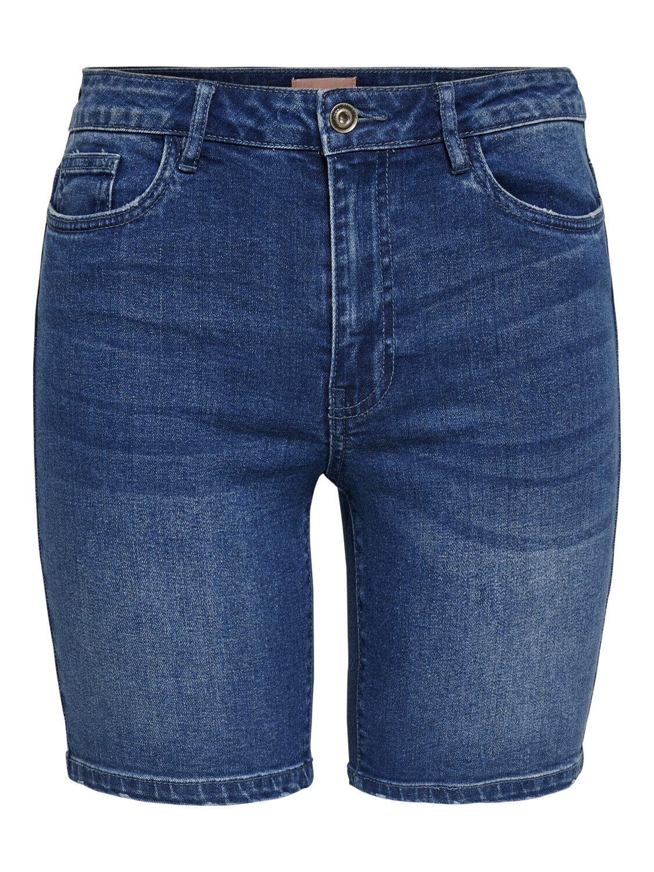 ONLY Damen Jeans Hose onlCORIN MIDWAIST DNM SHORTS blau grau kurz Sommer Bermuda