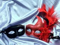 Pair Masquerade Mask For Date Man And Woman Halloween Costume Dress Up Party