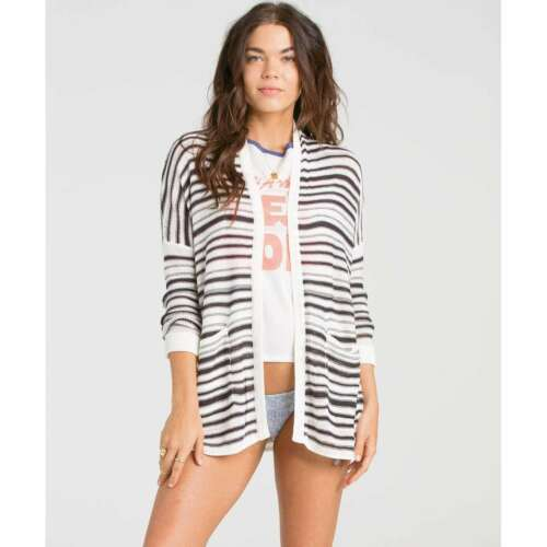 Off M Nwt Black 679370037741 2016 Kvinders Lines Sweater Stripe Udenfor Billabong 65 zA4fWAwq