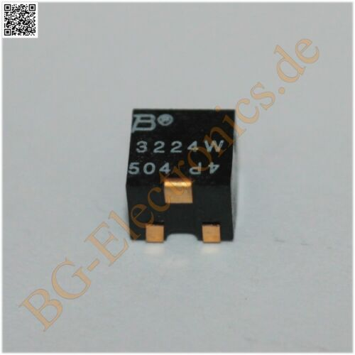 2 x Poti SMD 500KΩ Poti kOhm Widerstand resistor 3224W-1-504E BOURNS  2pcs
