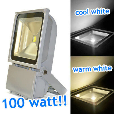super bright LED Flood Light 100Watt Outdoor Garden Security Light Cool White UK