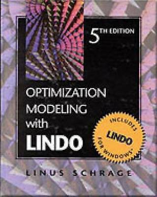 1 of 1 - NEW Optimization Modeling With LINDO by Linus Schrage