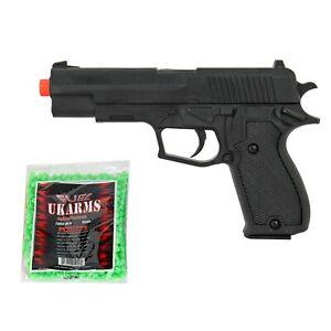 Uk Arms Sig Sauer P220 Airsoft Pistol Black Spring Gun 1000 Bbs Free Gift 874876831064 Ebay