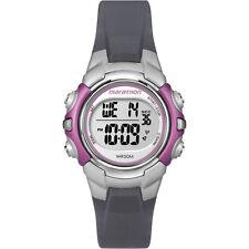 Ladies Timex Marathon Indiglo Digital Alarm Black Rubber Sports Watch T5K646