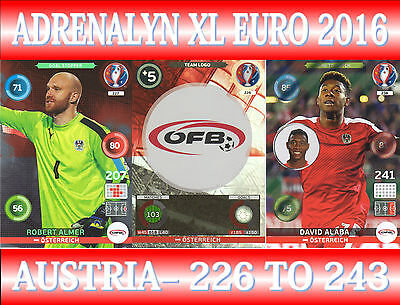 CHOOSE YOUR WALES TEAM CARDS 442 TO 459 PANINI ADRENALYN XL UEFA EURO 2016