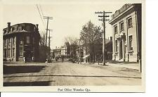 1922 - Post Office & Canadian Bank of Commerce, Waterloo, Quebec, RPPC, (L67)