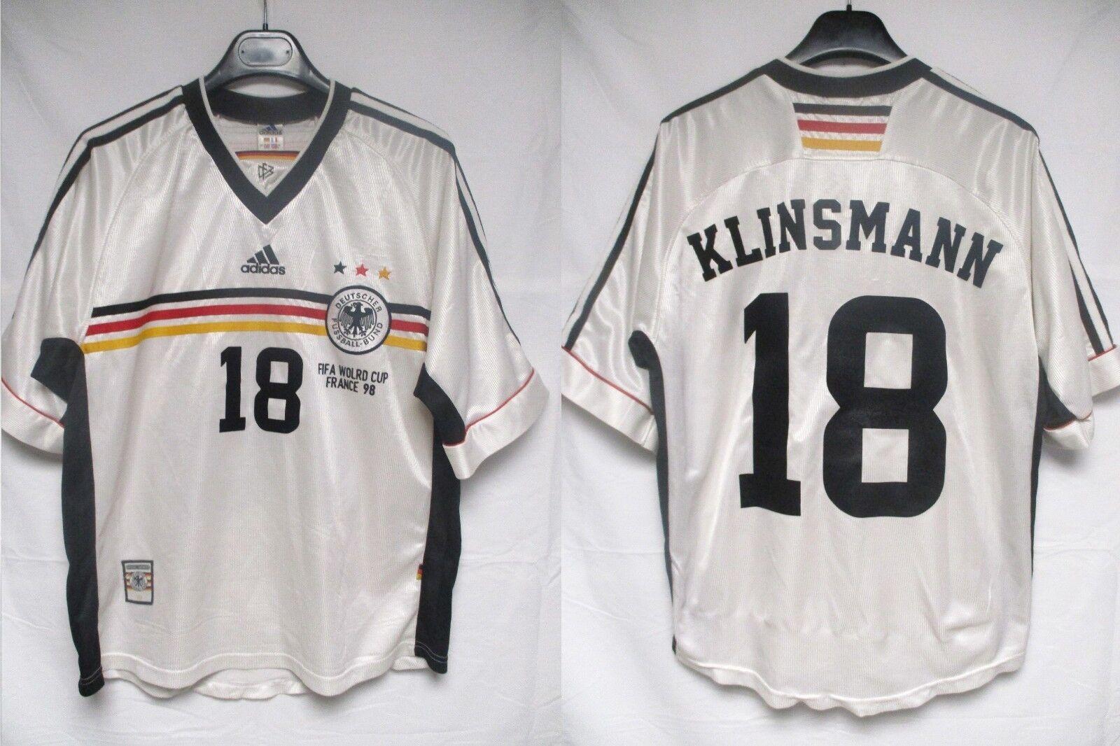 Maillot ALLEMAGNE Adidas trikot DEUTSCHLAND KLINSMANN Germany shirt World Cup 98