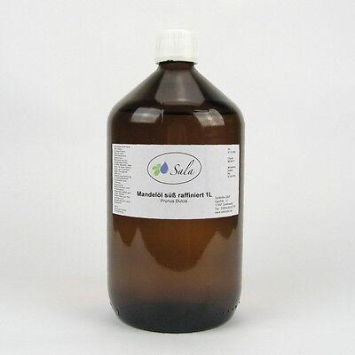 KS (12,50/L) Sala Mandelöl süß Massageöl raffiniert Ph. Eur. 1 L 1000 ml Glasfl.