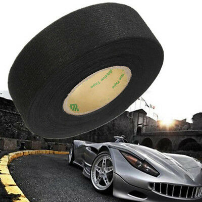 Black Flannel 25mmx15m Car Auto Wiring Harness Tape High Temperature Insulation