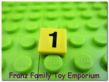 LEGO Yellow Tile 1x1 with Number 1 - Harry Potter Train 10132 4708 4758 Part