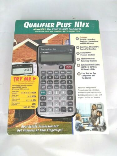 Calculated Industries Qualifier Plus IIIfx Financial Calculator 3430