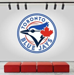 Image is loading Toronto-Blue-Jays-Logo-Wall-Decal-Sports-Sticker-  sc 1 st  eBay & Toronto Blue Jays Logo Wall Decal Sports Sticker Decor Vinyl MLB ...