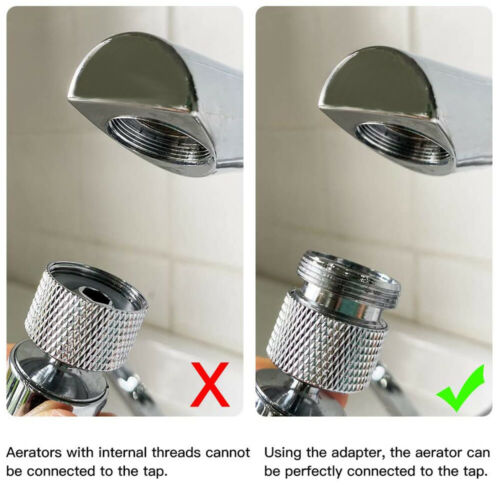 washer Water Saving Adaptor Kitchen Faucet Tap Aerator Connector Outside Thread