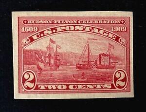 US Stamps, Scott #373, 2c imperf, 1909 XF/Sup Mint/VVLH. Beautiful specimen