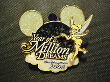 DISNEY WDW YEAR OF A MILLION DREAMS 2008 LOGO TINKER BELL PIN