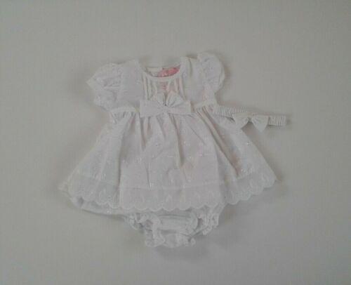Espagnol Style Bébé Filles Vêtements broderie Anglaise Robe Ensemble 0-9 mois