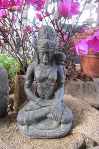 DEWI BUDDHA 47CM SHIVA STEINGUSS GARTEN EDEL FIGUR SKULPTUR DEKO TERRASSE TEICH