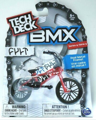 New Tech Deck BMX FINGER BIKES Series 9 CULT Flick Tricks RED Metal Frame