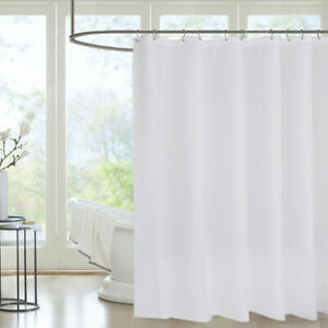 """Soft Pastel Color Microfiber Fabric Shower Curtain Liner with Hooks 70/"""" x 70/"""""""