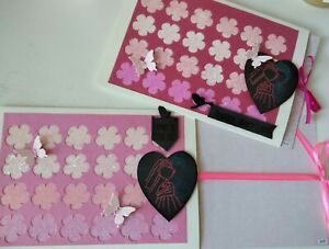 3d Mariage Carte Handmade Slider Nœud Ruban Surprise Message Caché Papillon-afficher Le Titre D'origine