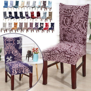Amazing Details About Beautiful Wedding Party Banquet Stretchable Dining Room Chair Covers Slipcovers Machost Co Dining Chair Design Ideas Machostcouk